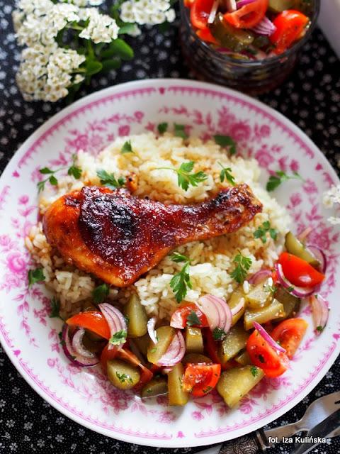 kurczak , obiad , pieczone , w marynacie