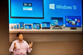 Microsoft Windows 9 comes out and introduces Windows 10