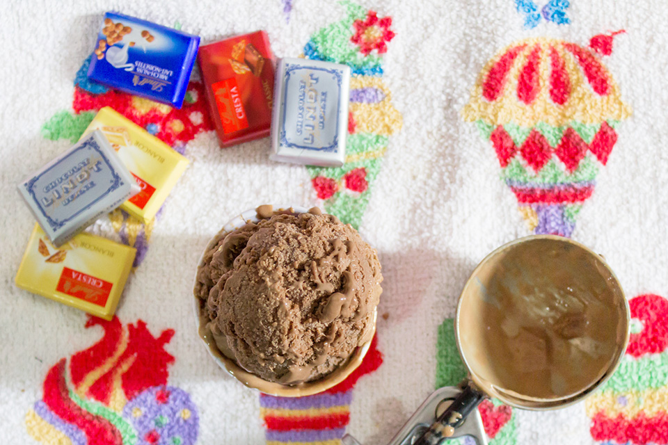 Receita Sorvete de Chocolate, Chocolate Ice Cream Recipe