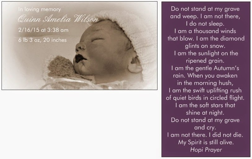 Baby's prayer card