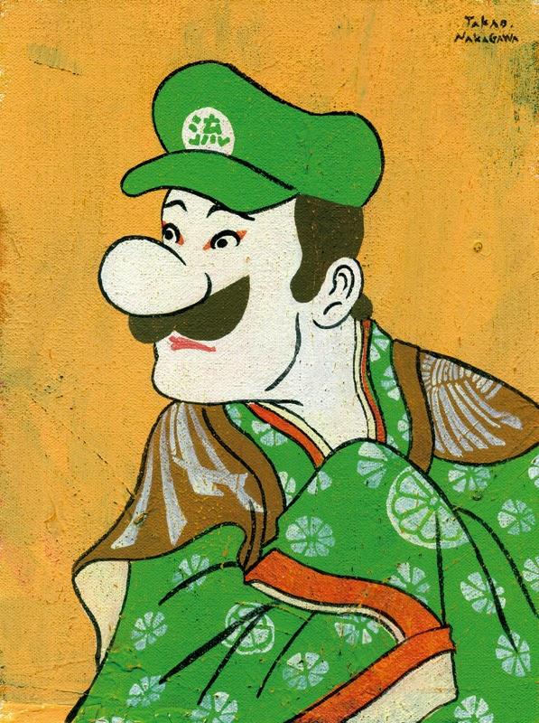 Luigi en ukiyoe