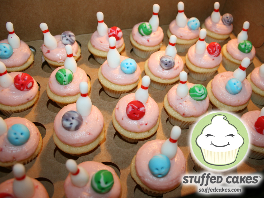 Stuffed Cakes Lucky Strike Bowling Cake Mini Cupcakes