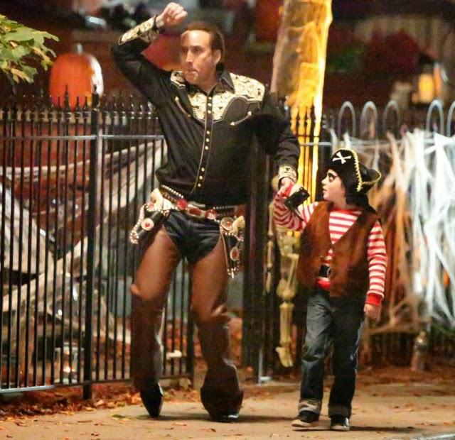 Nicolas Cage en su nueva película Pay The Ghost en Canadá