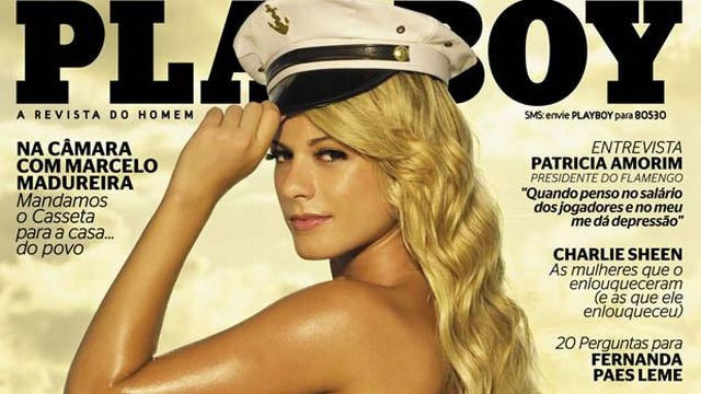 panicat Babi Rossi posa de marinheira na capa da 'Playboy'