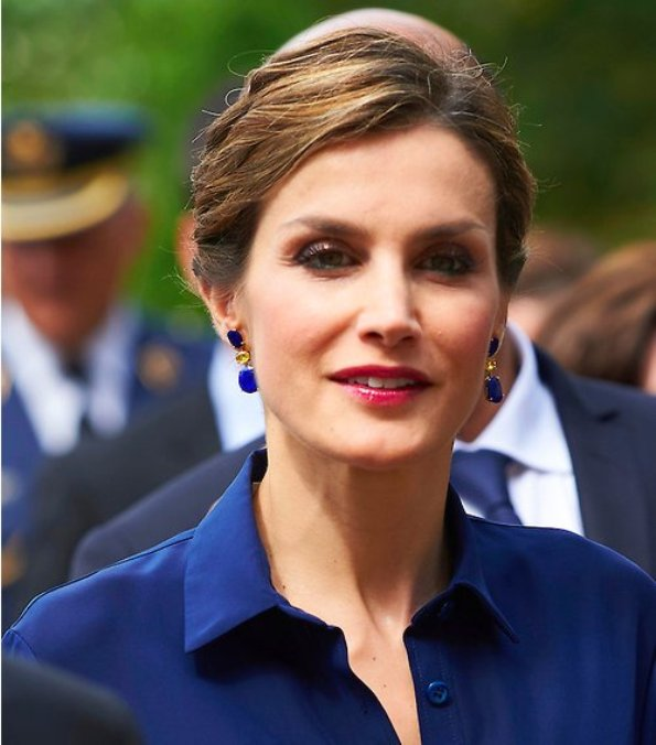 Queen Letizia And King Felipe On Official Visit In France