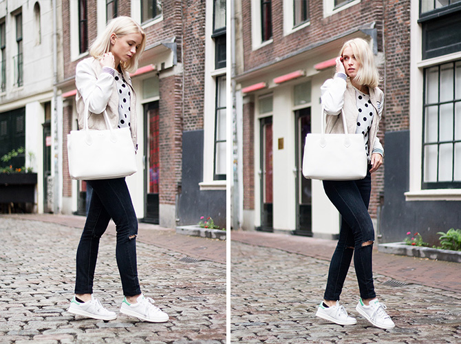 Fashion Attacks outfit ootd Amsterdam Stan Smith Furla