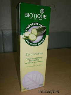 Biotique Botanicals Bio Cucumber Pore Tightening Freshener Packing