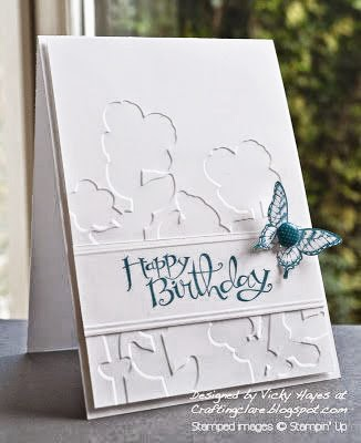 Stampin' Up Wildflower Meadow stamp and embossing folder, and butterfly punch at low prices