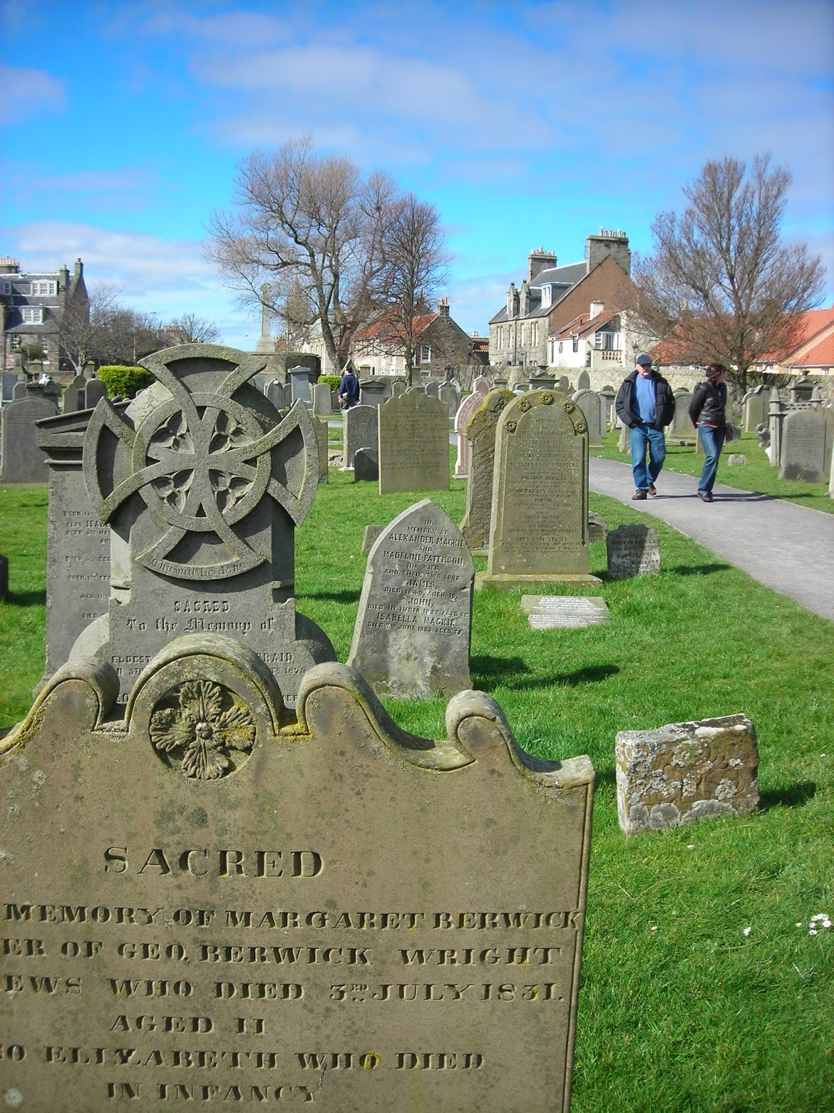 St Andrews cathedral ruins, cemetery