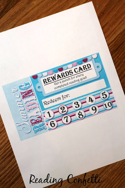 http://www.rachaelsbooknook.net/summer-reading-punch-cards/