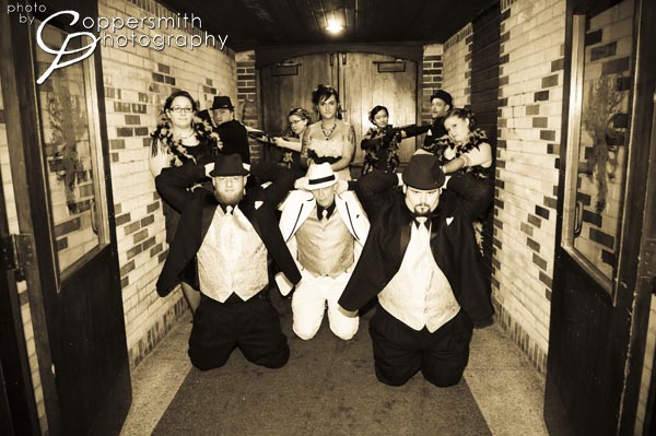 gangster theme wedding