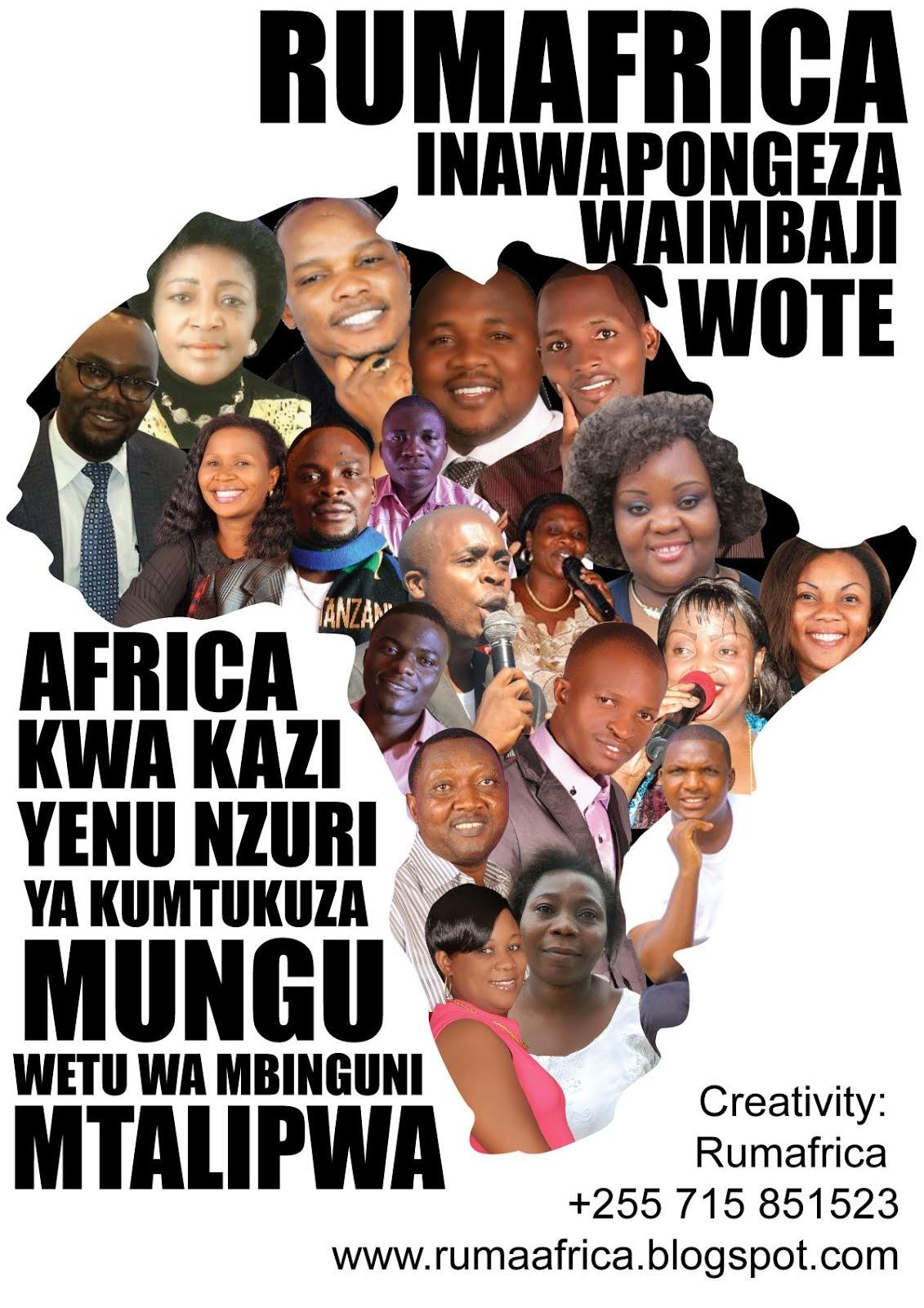 TUNAWAPONGEZA WAIMBAJI WA TANZANIA