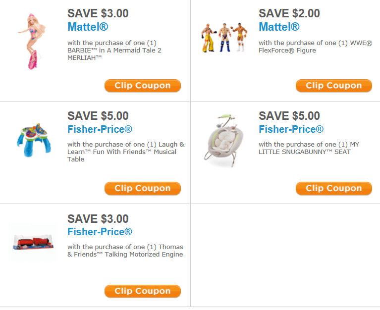 Mattel fisher price coupons