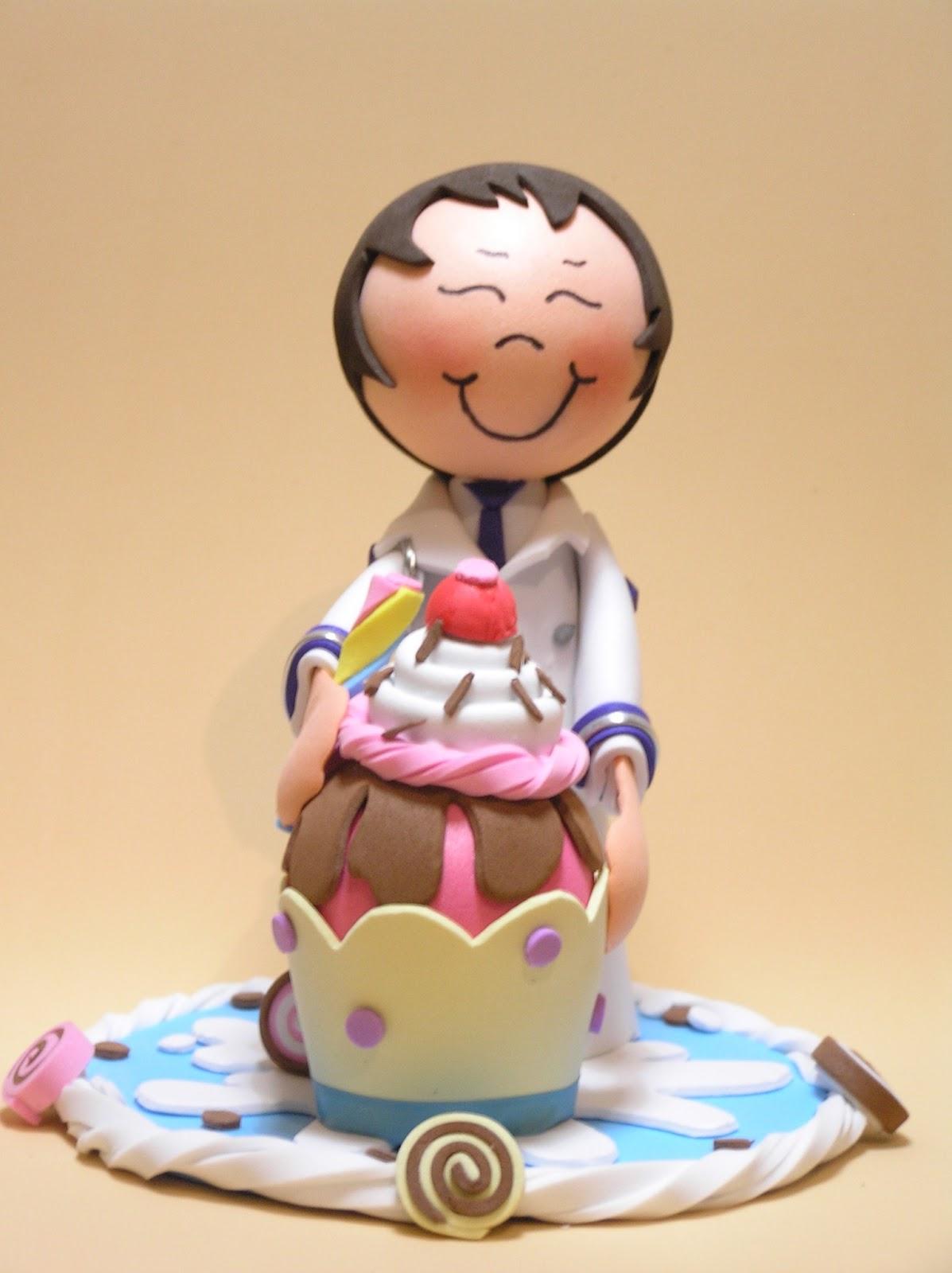 Para adornar tartas o mesa de celebraci n mu eco cupcake de comuni n pasaloda - Adornar mesas de comunion ...