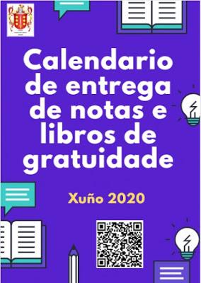 Calendario de entrega de notas