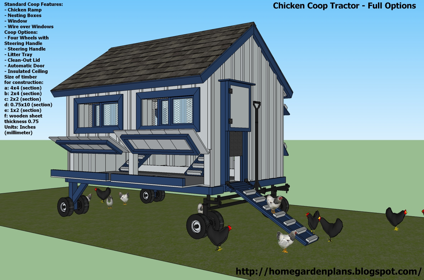 - Free Chicken Coop Tractor Plans - How to build a Chicken Coop