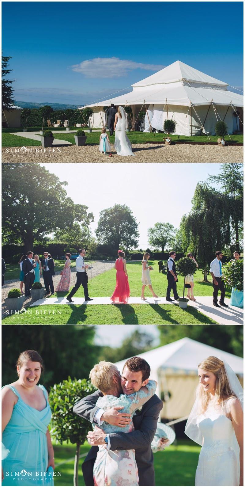 Marquee wedding somerset