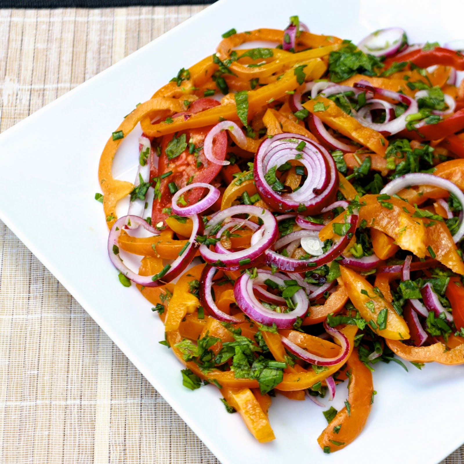 Sweet Bell Pepper and Onion Salad | The Sweets Life