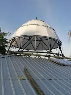 rangka, struktur, atap, kubah, masjid, konstruksi, pipa, baja, space frame, truss, system, kedap air, anti bocor, polycarbonate, skylight