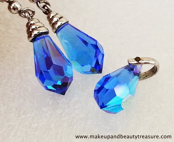 Jewellery Lust: Infinity Blue Crystal Jewellery Set