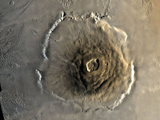 Olympus Mons, on Mars, is the highest volcano in the Solar System