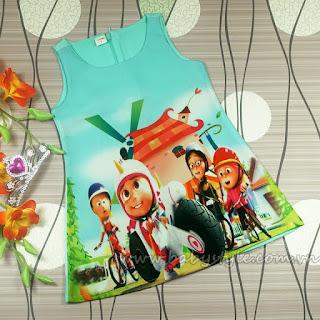 Váy 3D chữ A màu Thiên Thanh