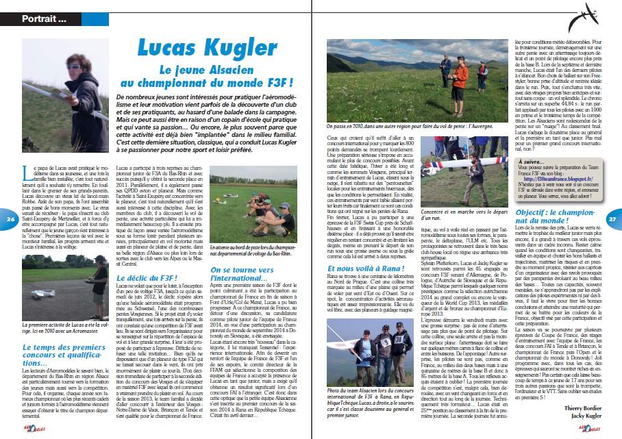 Lucas Kugler in Aeromodèle Magazine