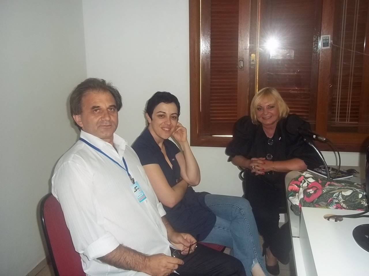 Airton Engster dos Santos, Márcia Tiburi e Belkis Carolina Calsa