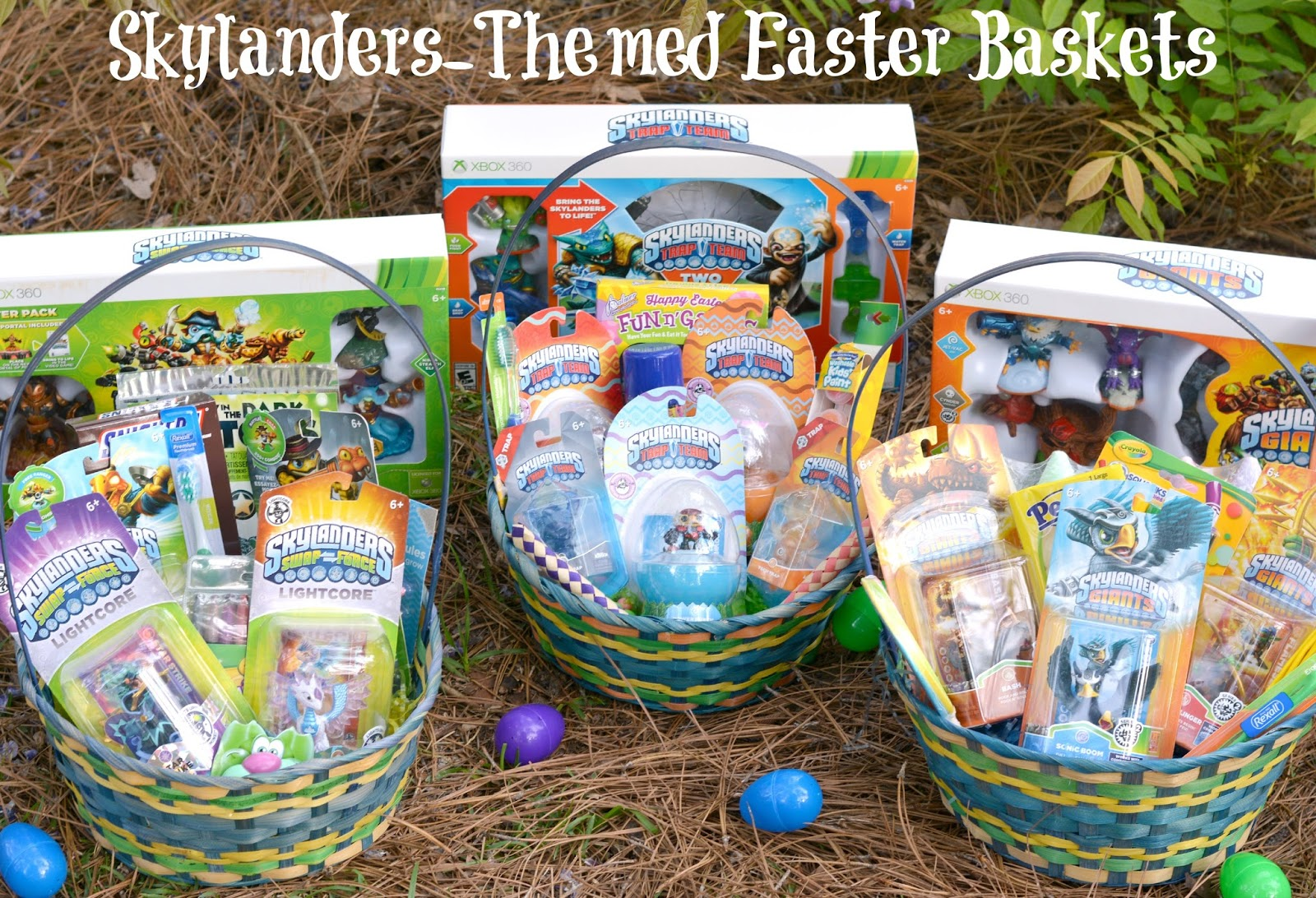 Life with 4 boys skylanders themed easter baskets eggsellentskylanders if you are a mom of a child with any type of gaming device then you have probably heard of skylanders an interactive video game experience that has been negle Images