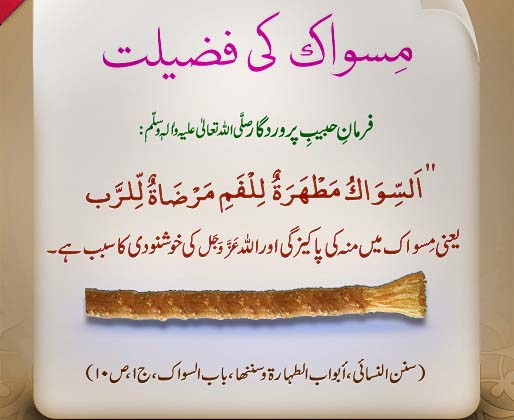 excellence etiquettes advantages of miswak Furthermore, asmustahabs and etiquettes are a 'type' o f sunnat, therefore, nopains have been taken in differentiating between these and bothhave been classified.