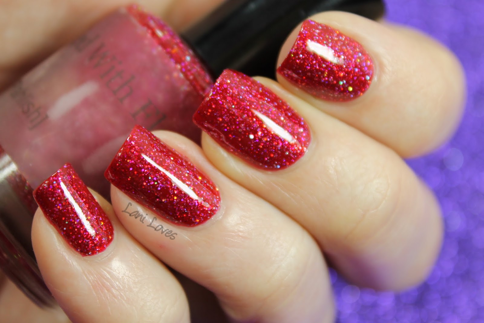 L'Oreal Lifetime Love + Pahlish Pianos Filled With Flames swatch