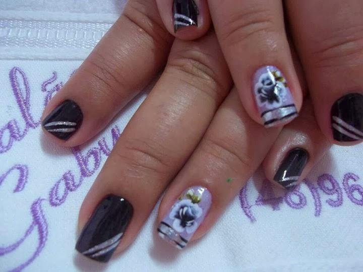 Imagenes De Unas Pintadas Con Flores - Diseño De Uñas: Flores En Pinceladas