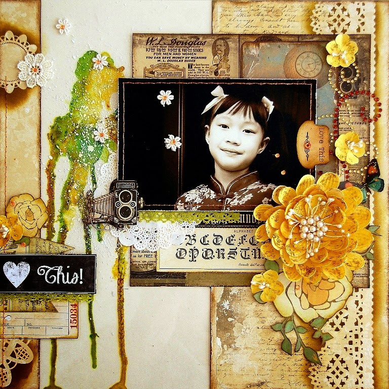 Love This layout by Irene Tan using Marion Smith Designs
