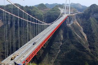 Elastomeric Bearing Pads  :  Jembatan Aizhai terpanjang  di China
