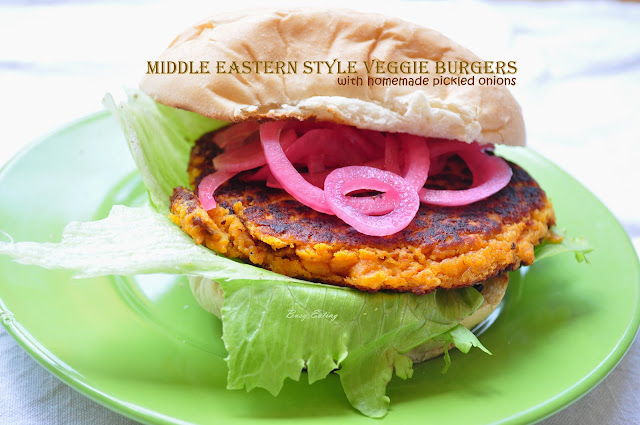 Middle Eastern Style Veggie Burgers