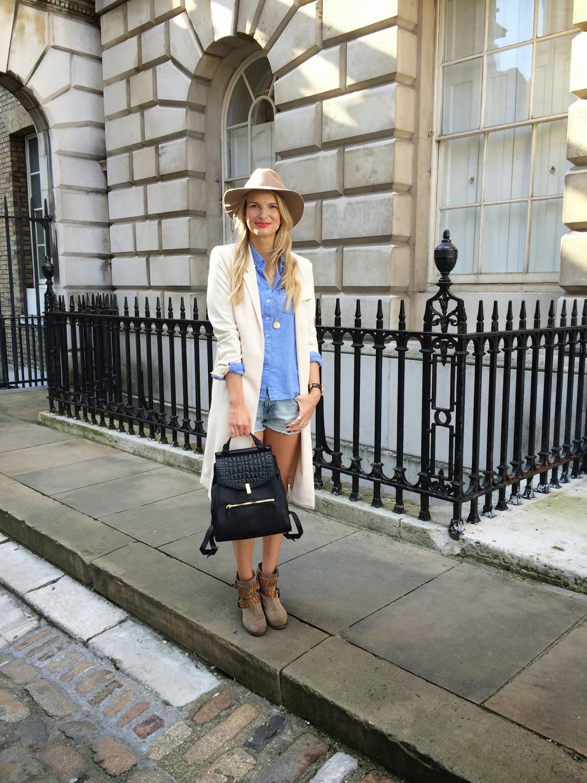 somerset house, street style, fashion blogger street style, street style, russell and bromley boots, black rucksack, camel hat, monica vinader
