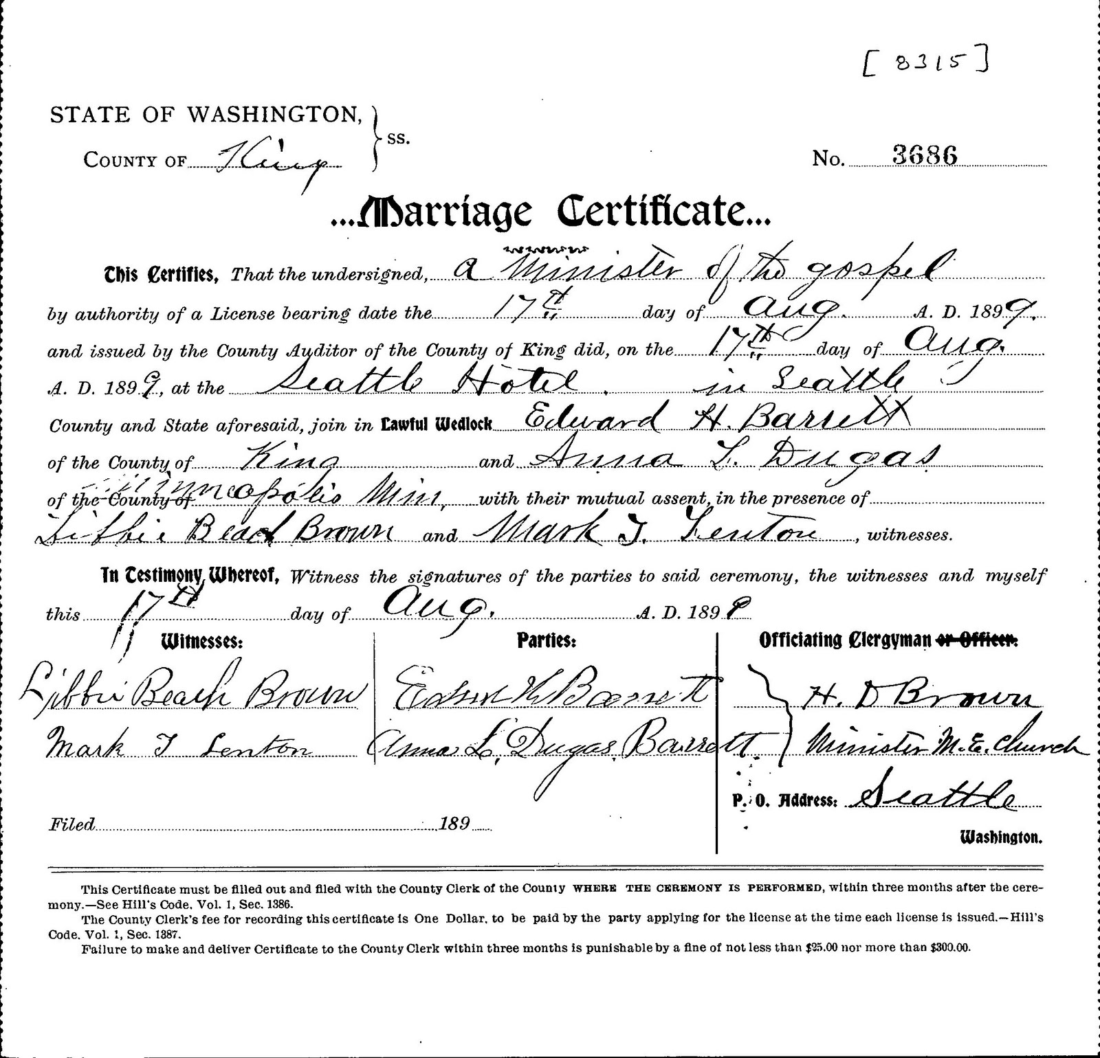 King County Marriage Certificate Free Professional Resume