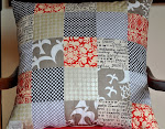 Neutral patchwork pillows