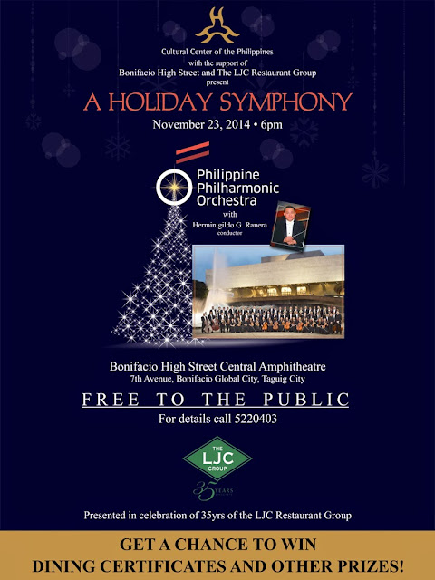 Philippine Philharmonic Orchestra in a Free Concert at Bonifacio High Street