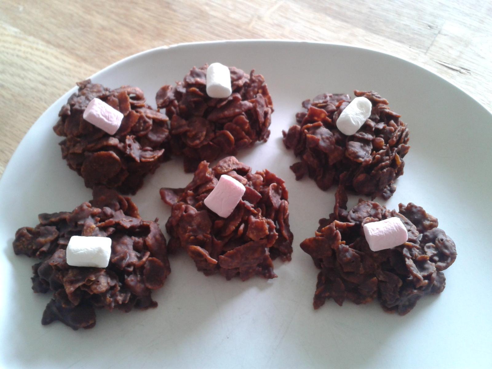 Chocolate And Marshmallow Cornflake Cakes