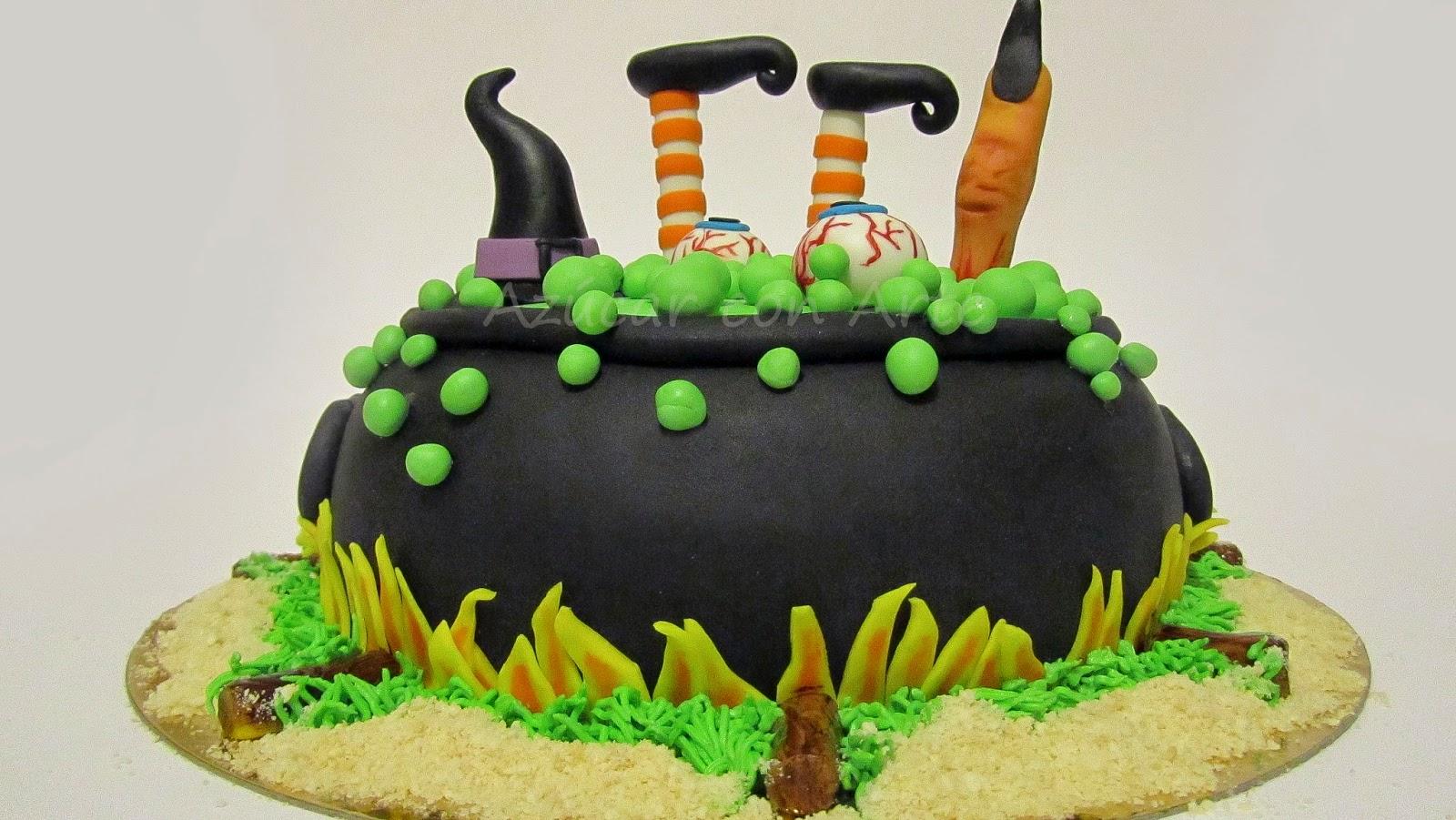 tarta halloween, halloween cake, tarta sin gluten, gluten free cake azucar con arte