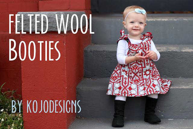 black wool baby booties