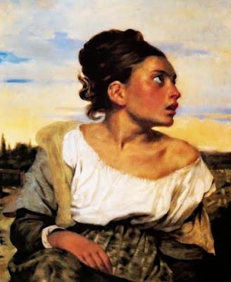 Òrfena en el cementiri (Ferdinand-Victor-Eugène Delacroix)