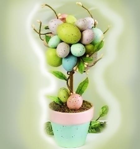 Великденско дърво - как да си направим украса за Великден с черупки от яйца