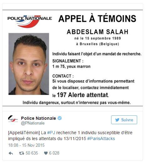 appel a témoins enculé de suspect abdelslam