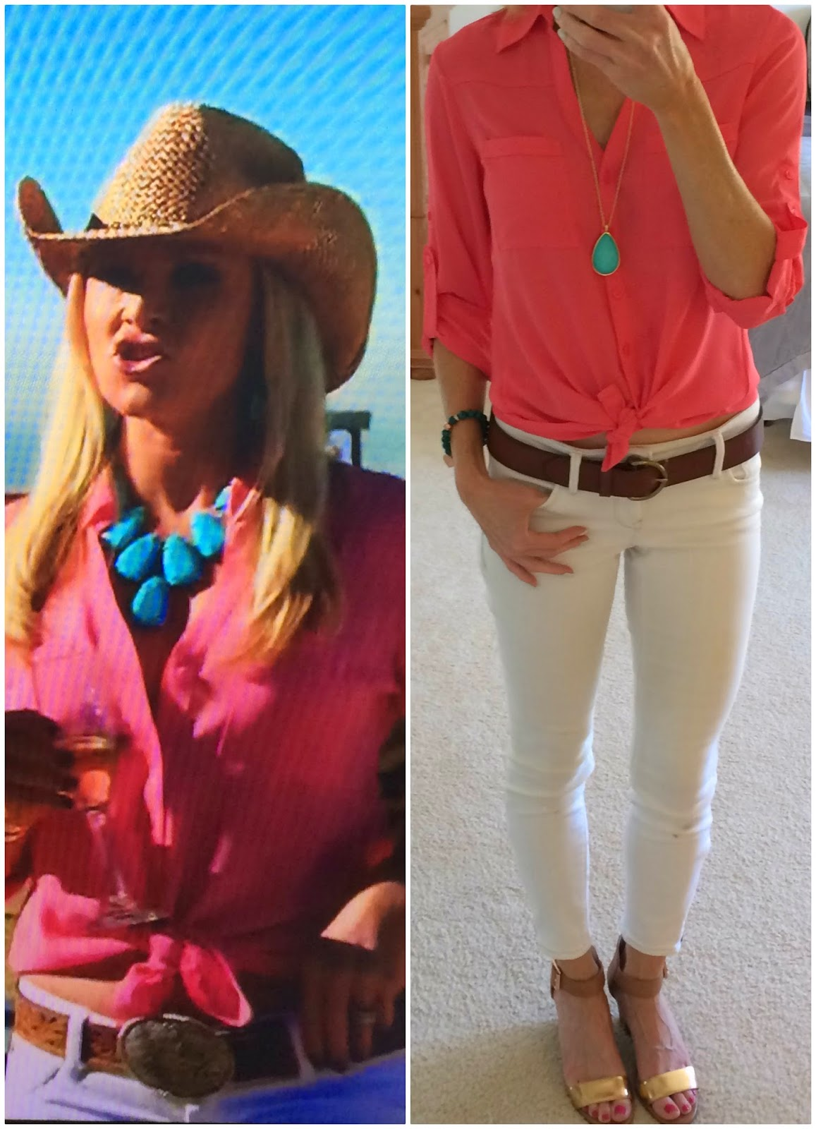 Tamra Barney Judge Blouse From Hoedown Episode