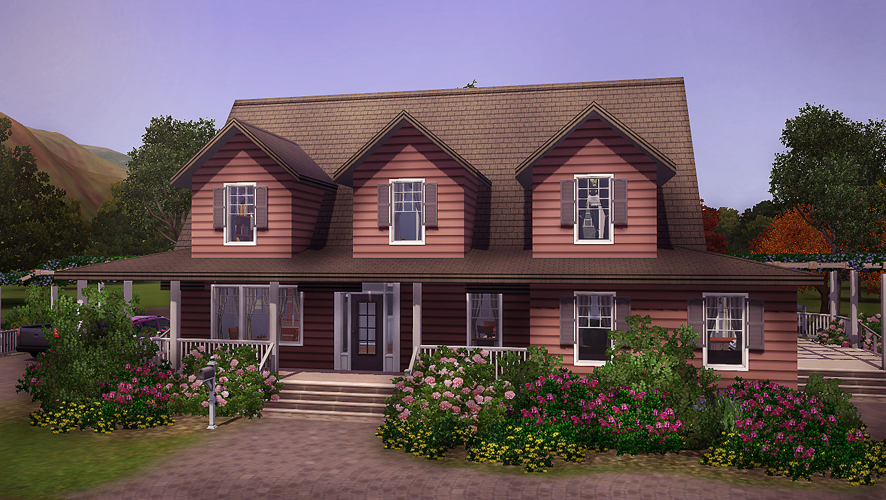 My sims 3 blog selma 3br 2ba country house by farfallesims for Country house com