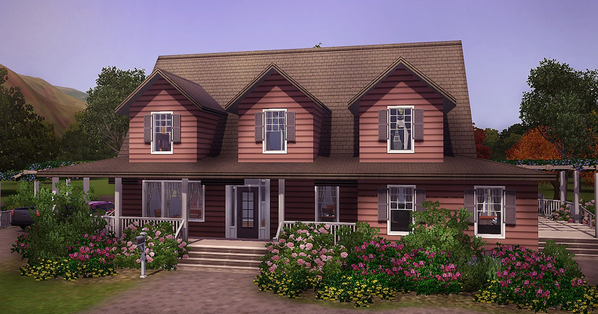 My sims 3 blog selma 3br 2ba country house by farfallesims for Country homes to build
