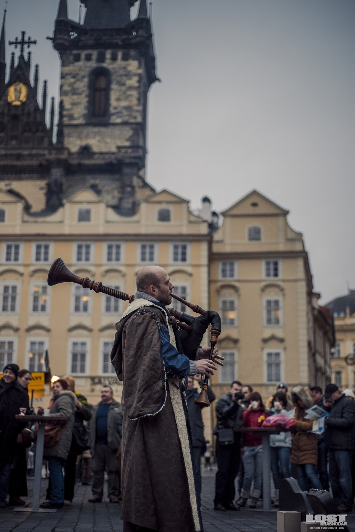 Medieval musicians on the Old Town Square
