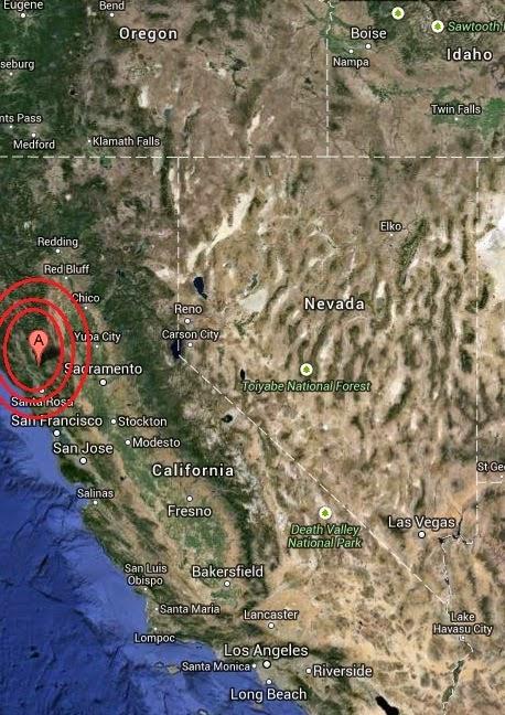 Magnitude 3.5 Earthquake of Covelo, California 2014-09-14